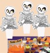 12 Halloween Muffin Stecker Skelett