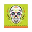 16 kleine Halloween Servietten Skelebration