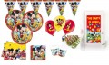XXL 63 Teile Disney Micky Maus Party Deko Set für 16 Kinder