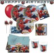 78 Teile Spiderman Web Warriors Deko Set 6 - 8 Personen
