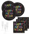 32 Teile Silvester und Neujahrs Party Deko Set 8 Personen - Happy New Year
