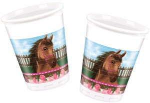 8 Party Becher Pink Pony