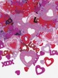 Valentins Tag Konfetti Hugs and Kisses X+O