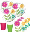 48 Teile Sommer Blumen Party Deko Set 16 Personen