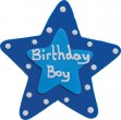Zucker Stern Birthday Boy Plakette 7,5 cm